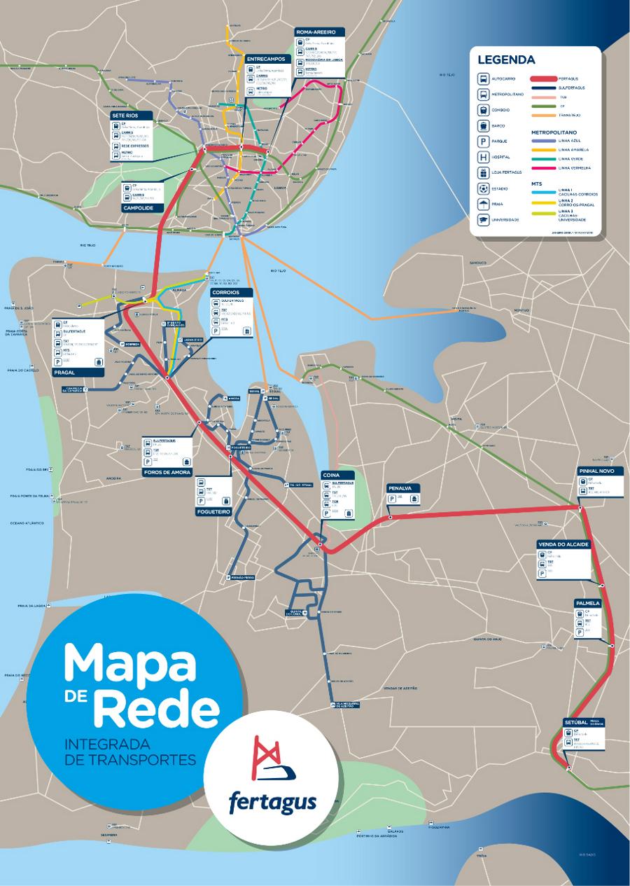 mapa fogueteiro Mapa de Rede Integrada Dos Transportes Da AML mapa fogueteiro